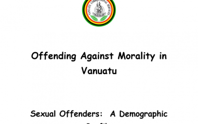 Offending Against Morality in Vanuatu – Sexual Offenders: A Demographic Profile