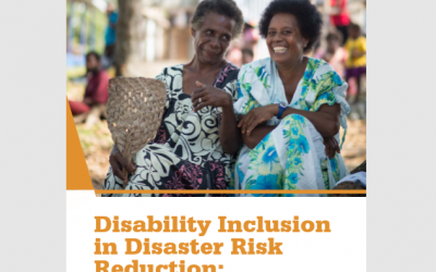 Disability Inclusion in Disaster Risk Reduction
