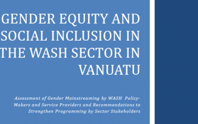 Gender Equity and Social Inclusion in The Wash Sector in Vanuatu