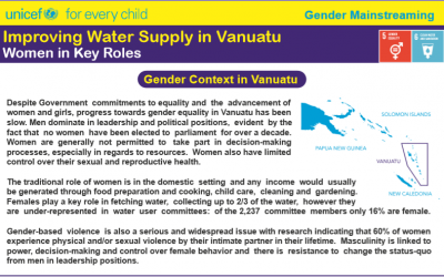 Women in Key Roles: Improving Water Supply n Vanuatu