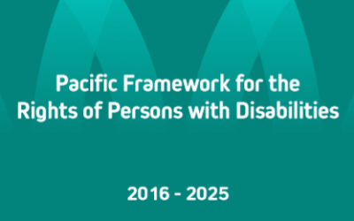 Pacific Framework for the Rights of Persons with Disabilities 2016-2025