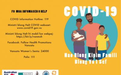 COVID-19 Hao Blong Kipim Famili Blong Yu I Sef