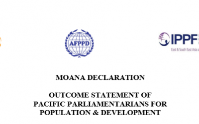 MOANA DECLARATION – Outcome Statement of Pacific Parliamentarians for Population and Development