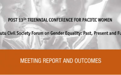 Vanautu Civil Society Forum on Gender Equality: Past, Present and Future