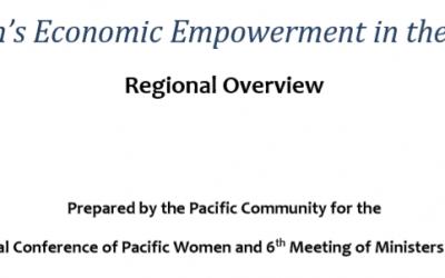 Women's Economic Empowerment in the Pacific