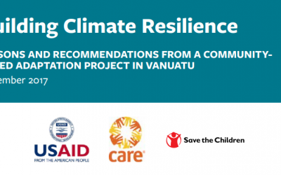 Building Climate Resilience – Lessons and Recommendations from a Community Based Adaptation Project in Vanuatu