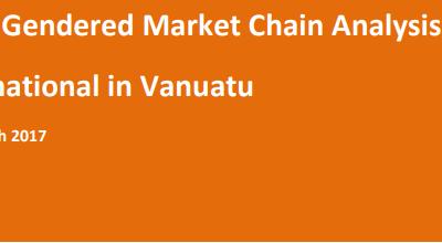 Erromango Gendered Market Chain Analysis