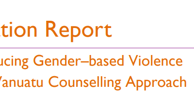 Evaluation Report – Vanuatu Counseling Approach