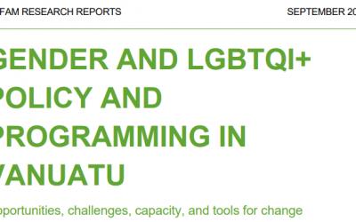 Gender and LGBTQI+ Policy and Programming in Vanuatu