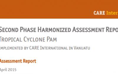 Second Phase Harmonized Assessment Report Vanuatu: Tropical Cyclone Pam