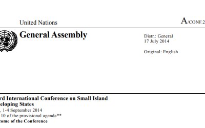 Small Island Developing States Accelerated Modalities of Action (Samoa Pathway)