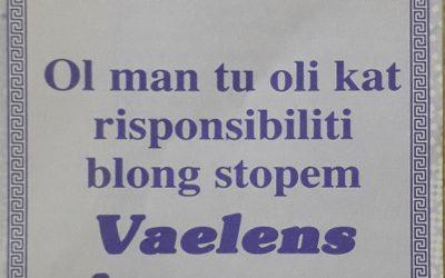 Stopem Kalja Blong Vaelens Agensem Ol Woman